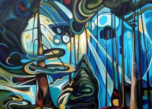 Emily Carr Forest 1 - 42x30 acrylic on canvas